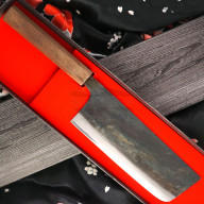 Nakiri Japanese kitchen knife Ittetsu Shirogami Tall IW-11839 18cm