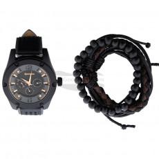 Часы Remington подарочный набор с браслетом, черный RMWST6