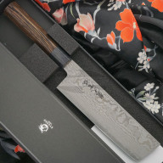 Японский кухонный нож Накири Ryusen Hamono Bonten Unryu BU-308 16.5см