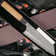 Cuchillo Japones Yoshimi Kato Bunka Ginsan D-710CW 17cm