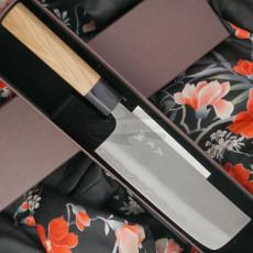 Nakiri Japanisches Messer Yoshimi Kato Ginsan D-703CW 16.5cm