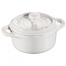 Staub Mini Round Cocotte, 10 cm, White 40511-083-0