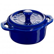 Staub Mini Round Cocotte, 10 cm, Dark Blue 40510-786-0