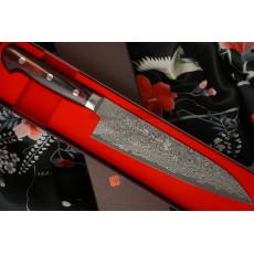 Japanilainen kokkiveitsi Gyuto Hiroshi Kato Black Nickel Damascus D609 18cm