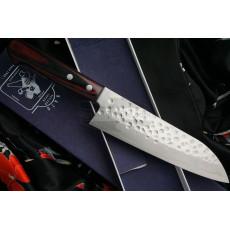 Santoku Japanese kitchen knife Hiroshi Kato Ginsan D1011R 16.5cm