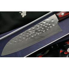 Japanilainen keittiöveitsi Santoku Hiroshi Kato Ginsan D1011R 16.5cm - 3
