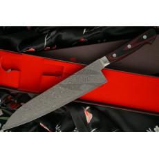 Японский кухонный нож Гьюто Hiroshi Kato Black Nickel Damascus  D612 21см - 4