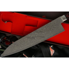 Японский кухонный нож Гьюто Hiroshi Kato Black Nickel Damascus  D612 21см - 5