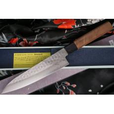 Gyuto Japanese kitchen knife Sakai Takayuki Aogami Damascus 07434 18cm
