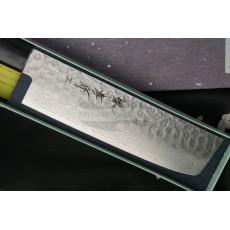 Nakiri Japanese kitchen knife Sakai Takayuki Aogami Damascus  07433 16cm - 2