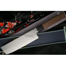 Nakiri Japanese kitchen knife Sakai Takayuki Aogami Damascus  07433 16cm - 3