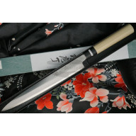 Yanagiba Japanese kitchen knife Tojiro Shirogami for Left-Handed F-908L 24cm