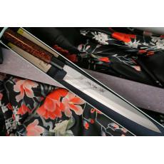 Yanagiba Japanese kitchen knife Sakai Takayuki Inox Black/Bronze Lacqured with Saya 04313K 24cm