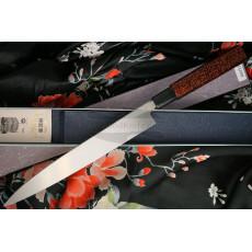 Yanagiba Japanese kitchen knife Sakai Takayuki Inox Black/Bronze Lacqured with Saya 04313K 24cm - 3