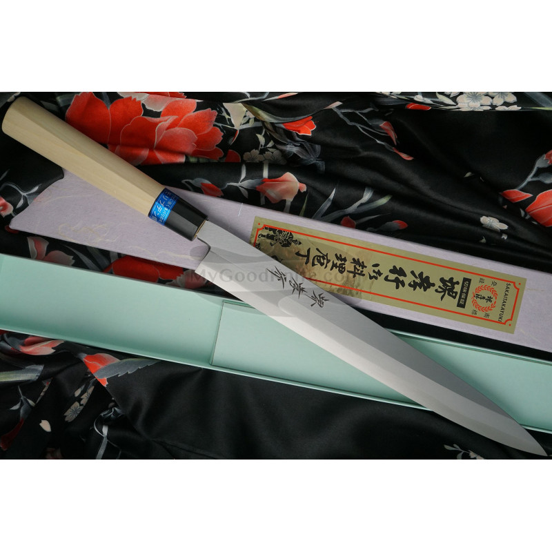 Японский кухонный нож Янагиба Sakai Takayuki Inox  04304 27см - 1