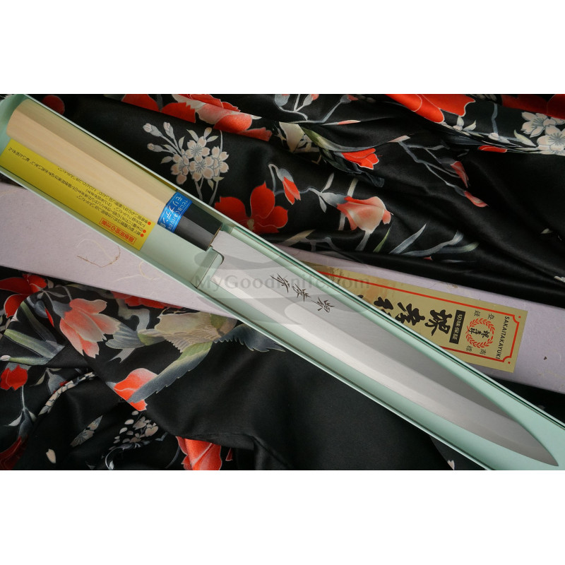 Yanagiba Japanese kitchen knife Sakai Takayuki Inox  04303 24cm - 1