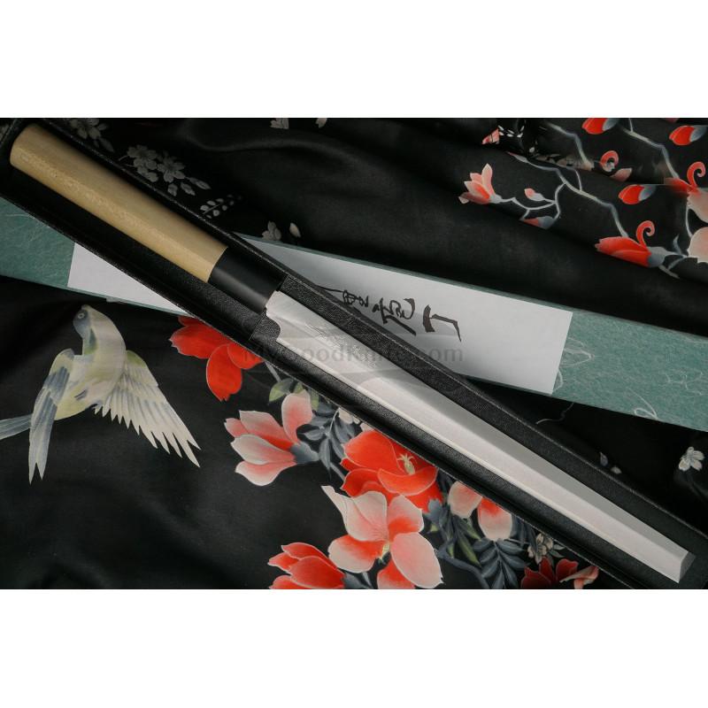 Японский кухонный нож Tojiro Shirogami Tako-Sashimi  F-912 24см - 1