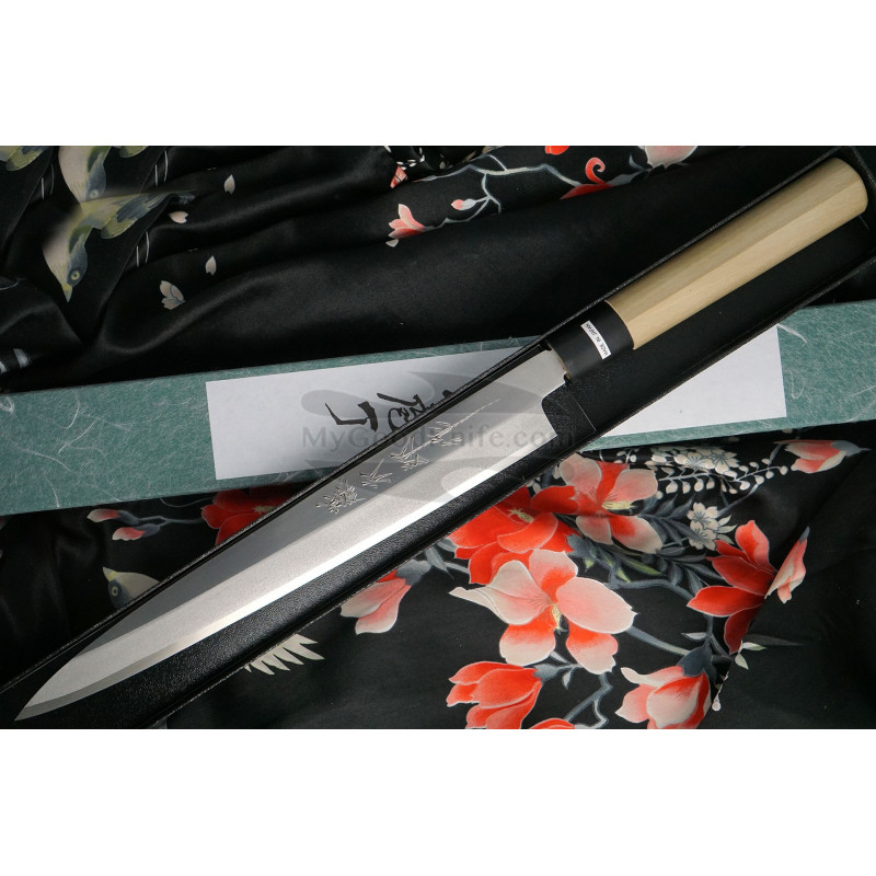 Japanilainen sushi veitsi Yanagiba Tojiro Shirogami Left-Handed  F-909L 27cm - 1