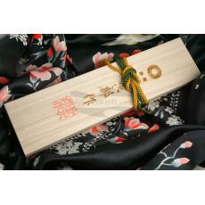 Hunting and Outdoor knife Tojiro Kugami Aogami  HMHA-010D 12cm - 4