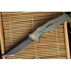 Folding knife We Knife Green Handle, Black blade 601C 9.7cm