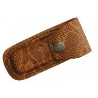 Sheath  Leather Belt Pouch Python Brown SH1202