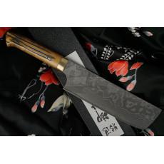 Японский кухонный нож Накири Takeshi Saji VG10, bull bone HA4605 17см