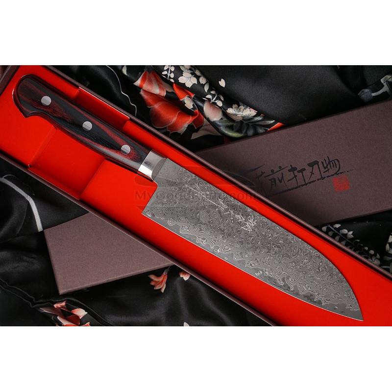 Японский кухонный нож Сантоку Hiroshi Kato Damascus VG10 D608 17.5см - 1