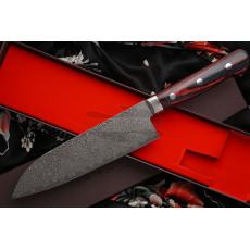 Японский кухонный нож Сантоку Hiroshi Kato Damascus VG10 D608 17.5см - 3