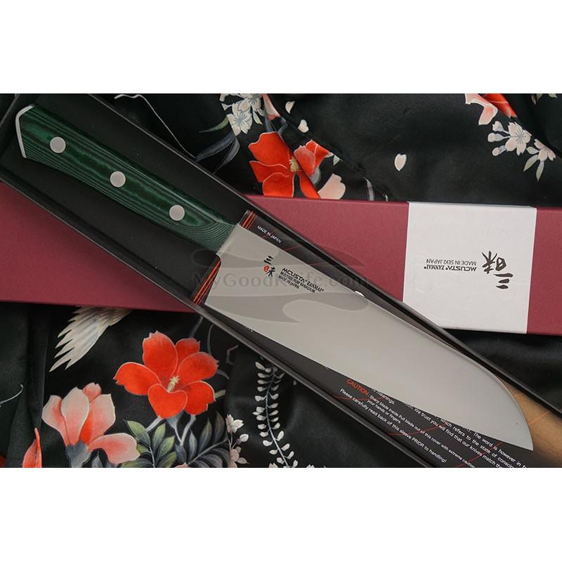 Japanilainen keittiöveitsi Santoku Mcusta Forest HBG-6003M 18cm - 1