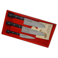 Kitchen knife set Masahiro 3 knives of LLS Series 11 531