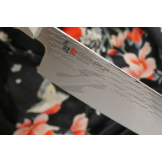 Santoku Japanese kitchen knife Mcusta Supreme Ripple Damascus TZ2-4003DR 18cm - 2