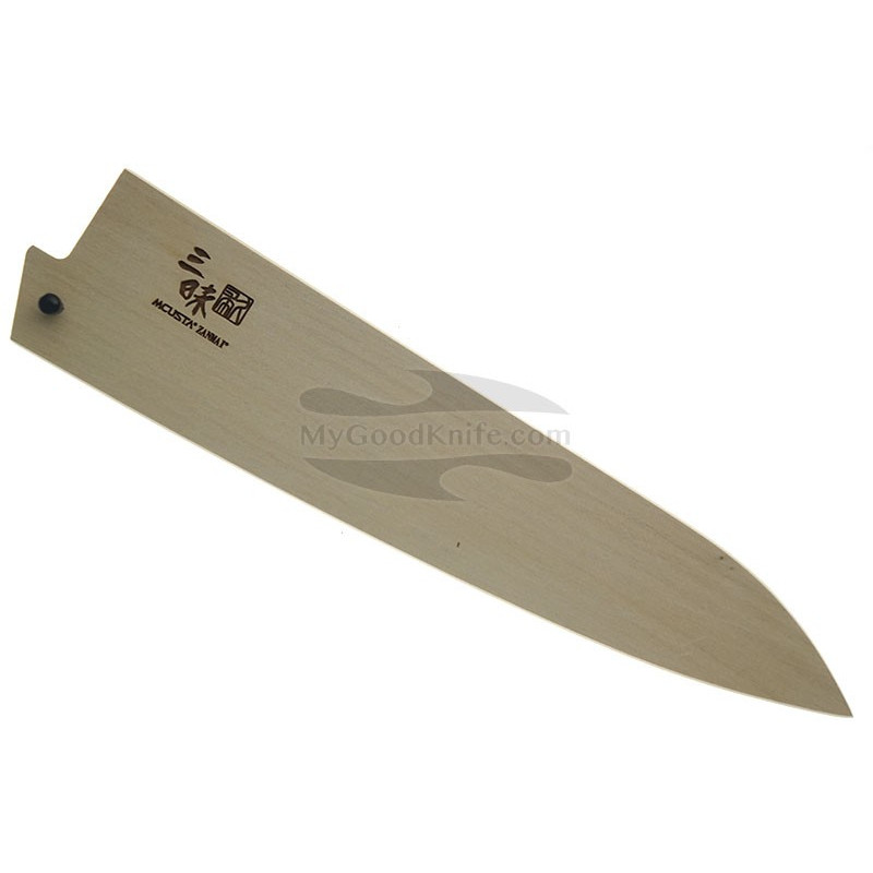 Sheath Mcusta Wooden Saya for Gyuto knife 21 cm mnsg210 - 1