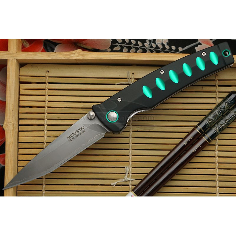 Kääntöveitsi Mcusta Katana Green MC-0044C 8.5cm - 1