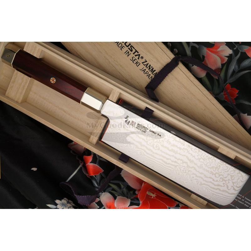 Nakiri Japanese kitchen knife Mcusta Coreless Aranami ZUA-1008C 16.5cm - 1