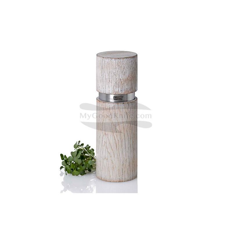 Spice mill AdHoc for Pepper or salt Textura Antique, white MP25 - 1