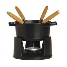 Staub Round Mini Fondue set, black 40509-587