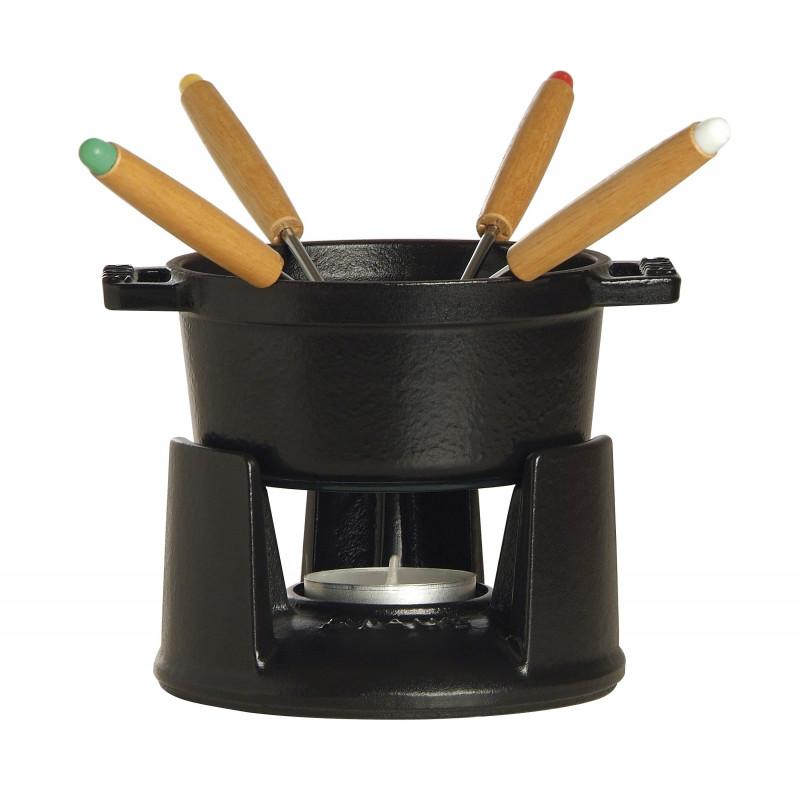 Staub Round Mini Fondue set, black 1400423 - 1