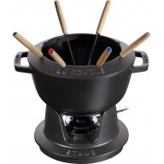 Staub Round Fondue set 20 cm, black 40511-972-0 - 1