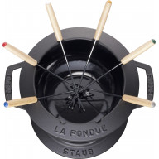 Staub Round Fondue set 20 cm, black 40511-972-0 - 2