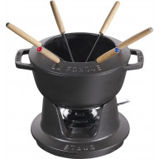 Staub Round Fondue set 18 cm, black 40511-971-0