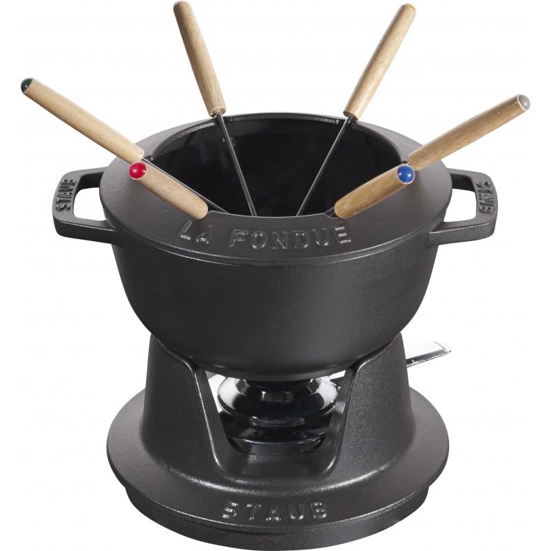 Staub Round Fondue set 18 cm, black 40511-971-0 - 1