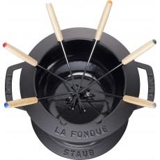 Staub Round Fondue set 18 cm, black 40511-971-0 - 2