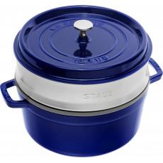 Staub Round Cocotte with steamer 26 cm, Dark blue  40510-604-0 - 1