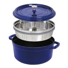 Staub Round Cocotte with steamer 26 cm, Dark blue  40510-604-0 - 2
