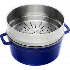 Staub Round Cocotte with steamer 26 cm, Dark blue  40510-604-0 - 3