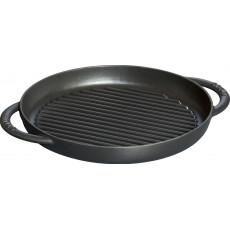 Pan Staub Cast Iron Grill round 26 cm, Black 40509-377-0