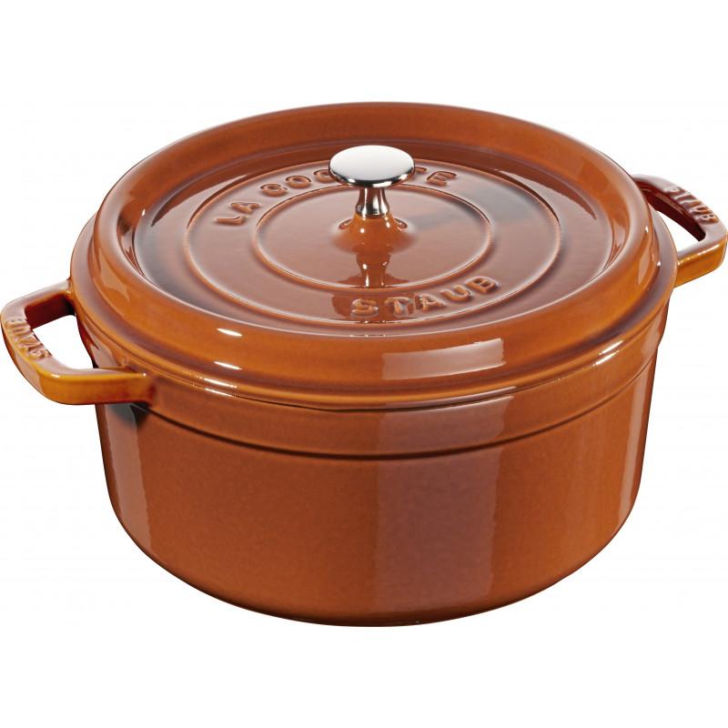 Staub Round Cocotte 26 cm, Cinnamon  40511-297-0 - 1