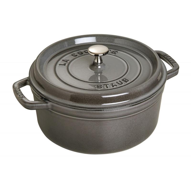 Staub Round Cocotte 26 cm, Graphite grey  40509-312-0 - 1