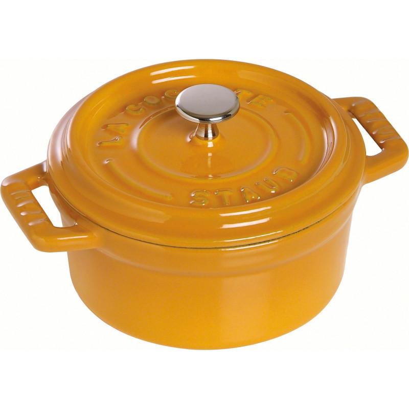 Staub Round Cocotte 10 cm, Mustard  40510-636-0 - 1