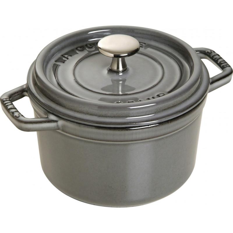 Staub Round Cocotte 16 cm, Graphite grey  40509-479-0 - 1